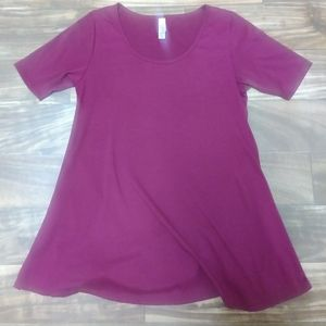Lularoe xxs Bordeaux red purple shirt
